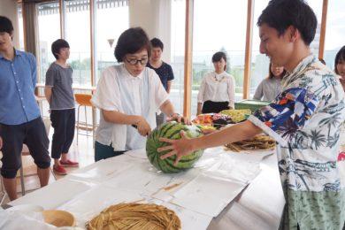 上田君と先生の共同作業